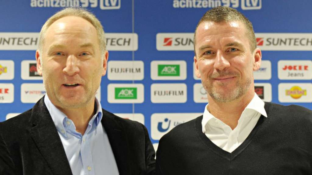 Manager Andreas Müller und Trainer Marco Kurz