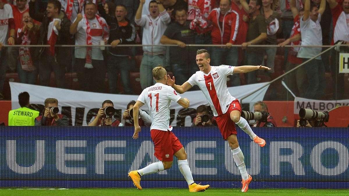 Fussball Polen Deutschland