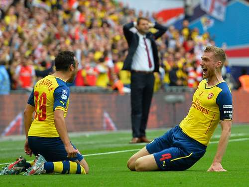 Mertesacker trifft bei Arsenals FA-Cup-Triumph