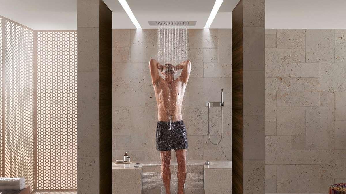 duschen im regen was moderne brausen f rs bad alles. Black Bedroom Furniture Sets. Home Design Ideas