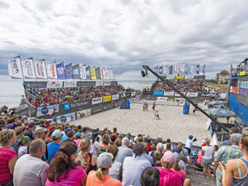 Beachvolleyball am Südstrand in Bildern
