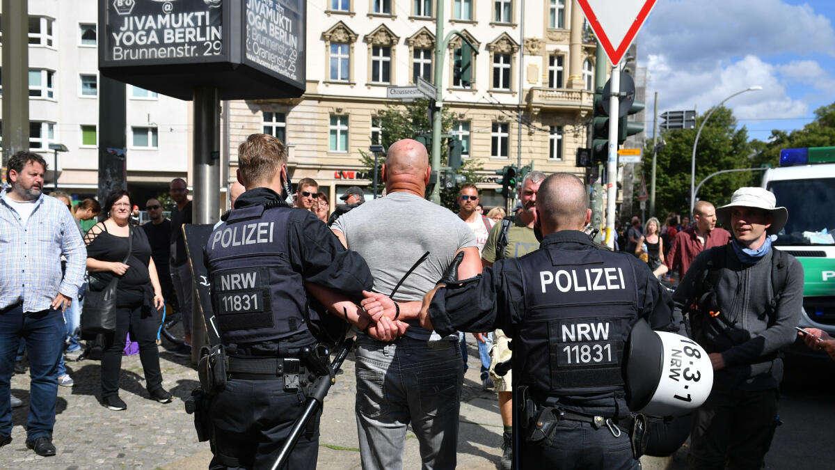 Corona Polizei Berlin